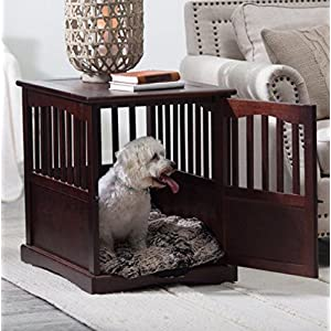 Polarbear's Shop New Wooden Pet Crate end Table Kennel cage Furniture Dog Pen Indoor House Bed Small 15