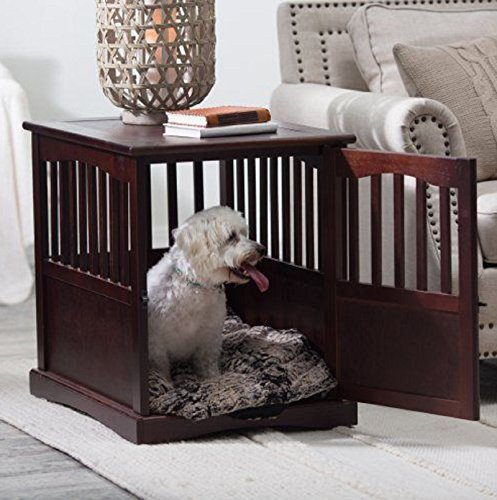 Wooden Pet Crate end table kennel cage furniture dog pen ...