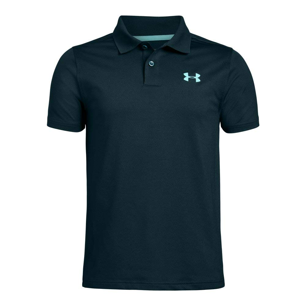 Under Armour boys Performance 2.0 Golf Polo, Batik (366)/Neo Turquoise, Youth X-Small