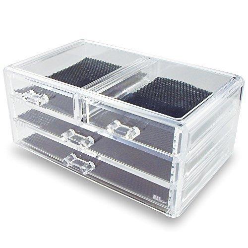 Ikee Design Jewelry & Cosmetic Storage Display Box 9 3/8