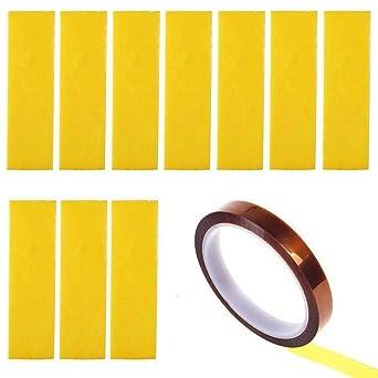 Calefacción Bloque algodón 10pcs adhesiva Kapton cinta oro 0,78 en ...