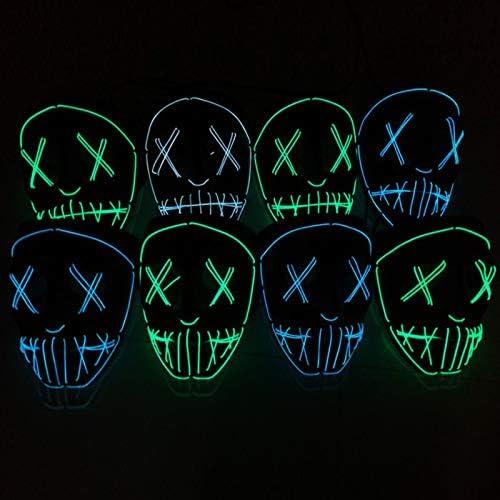 51E1yBpIfSL. AC  - ASON Halloween Scary Mask Cosplay Led Costume Mask