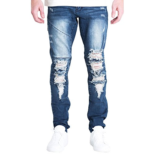Embellish NYC Mackenzie Ripped Denim Jeans by Embellish NYC