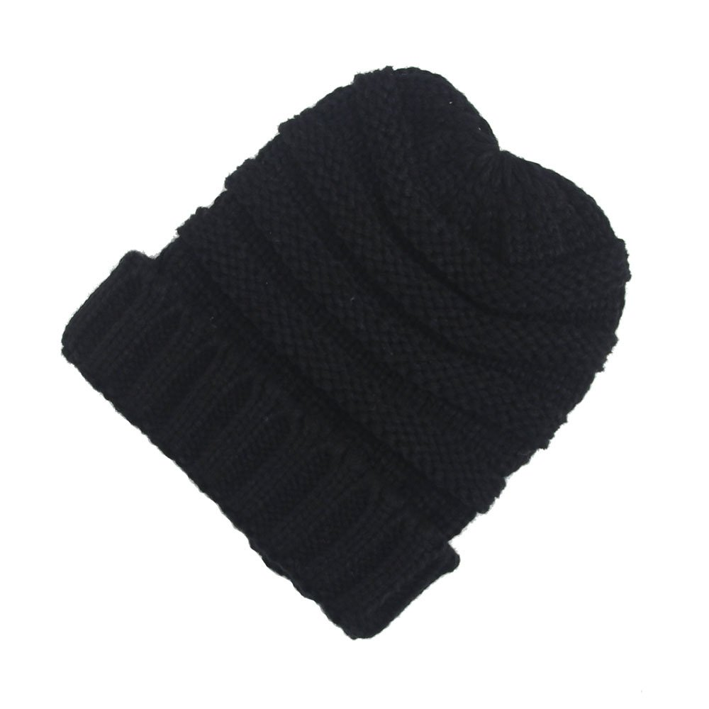 Quest Sweet Unisex Knit Beanies Solid Ribbed Cap Chunky Soft Cable Baggy Slouchy Hat