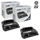LD Compatible Replacement for Hewlett Packard CF281A (HP 81A) Set of 2 Black Laser Toner Cartridges for use in the LaserJet Enterprise Flow MFP M630dn, MFP M630z, MFP 630f & MFP 630h Printers