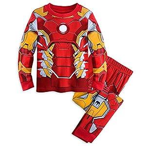 Disney Store Marvel Avengers Iron Man Costume Little Boy 2PC Long Sleeve Pajama Set