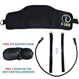 R-Laxe Neck and Head Hammock for Pain and Tension Relief - Cervical Traction Portable Device with Straps - Therapeutic Neck Stretcher and Massager for Better Rest, Focus and Sleep - Works for Kids