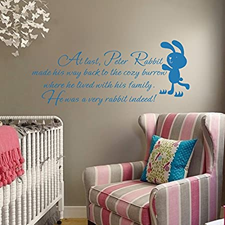 Peter Rabbit Vinyl Wall Decal Inspirational Story Quote Lovely ...