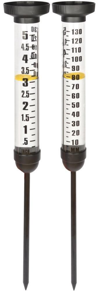 Esschert Design Regenmesser aus Plastik, 12 x 12 x 105 cm, Größe L, Niederschlagsmesser, Wetterstation Größe L Esschert Design Deutschland TH86