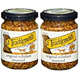 Tracklements Original Wiltshire Mustard - Pack of 2 x 140g Jars | Gluten Free, Traditional, Grainy English Mustard, Whole Grain