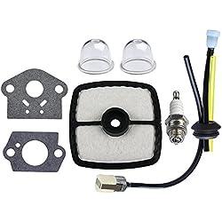 HIPA RePower Kit with Air Filter Primer Bulb Gasket for ECHO HC150 HC151i HCR150 Clipper GT201i SRM210 SRM210i SRM210SB SRM210U SRM211i Trimer Weedeater