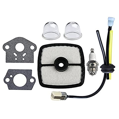 HIPA RePower Kit with Air Filter Primer Bulb Gasket for ECHO HC150 HC151i HCR150 Clipper GT201i SRM210 SRM210i SRM210SB SRM210U SRM211i Trimer (Gas Trimer Edger)
