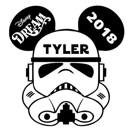 LARGE Personalized Disney Stormtrooper Star Wars Inspired Magnet for Disney Cruise with your Name -