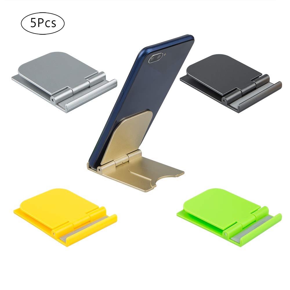 Mini iPad Port/átil Soporte para tel/éfono Universal Cuna de Escritorio para tel/éfono Celular para Tabletas Smartphone AIFUDA 5 Piezas Plegable Soportes para tel/éfonos celulares Lector
