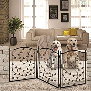 Bundaloo Freestanding Metal Folding Pet Gate | Large Portable Panels for Dog & Cat Security | Foldable Enclosure Gates for Puppies | Indoor & Outdoor Safety for Pets 119