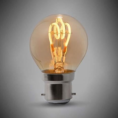 Bombilla LED de 2 W B22 con diseño vintage de pelota de golf Edison, 1800