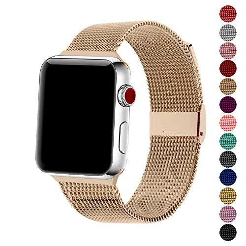 SexHope Compatible for Apple Watch Band 38mm 42mm 40mm 44mm Series 5 4 3 2 1 (Retro Gold, 42mm/44mm)