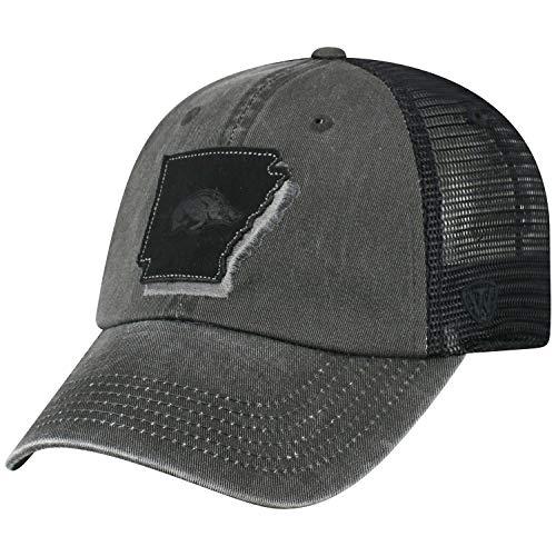 Top of the World Arkansas Razorbacks Tow Black Land Mesh Adj. Relax Hat Cap