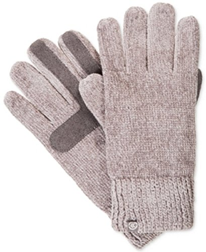 Glove Signature Womens (Isotoner Signature Women's Chenille Knit Palm Smart Touch Tech Gloves,One Size (Grey))