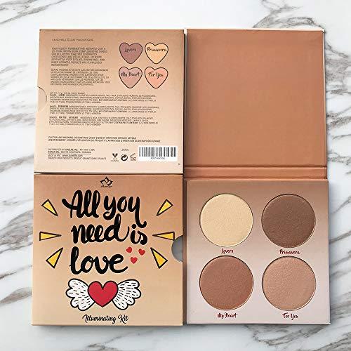 Highlighter Palette,Highlighter Makeup Palette, Glow Bronzer Highlighter Powder Kit
