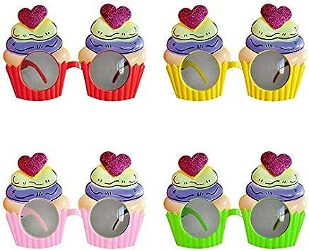Partilandia Gafas Cupcake de Fiesta Accesorio Fiesta (Pack 6 UDS ...