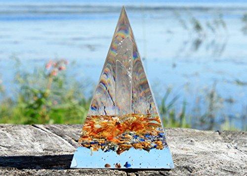 - Orgonite Orgone Pyramid - Energy Generator - SELF Confidence - Crystal Gemstone - Amber Citrine Lapis Lazuli Quartz Yellow Jasper - Large & Powerfull! Add Yours to Cart Now!