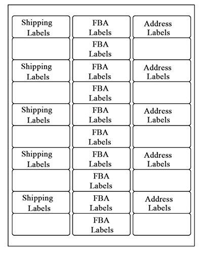SJPACK 30-up Labels, 250 Sheets 1