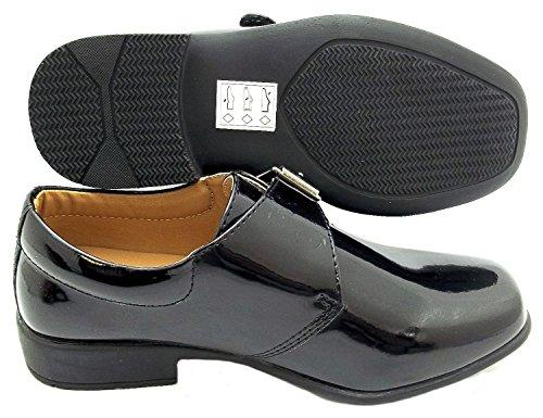 Rsb Boy's Mönch synthetischen förmlichen Schuhe, Schwarz - schwarz - Größe: 38/38.5 EU