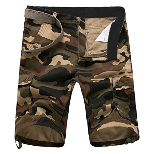 Ufo Pants Blue Camo (CATERTO New Cargo Shorts Casual Pants(Khaki Camouflage,42))