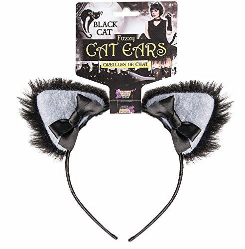 Black Cat Furry Ears (Halloween Costume For Adults Uk)