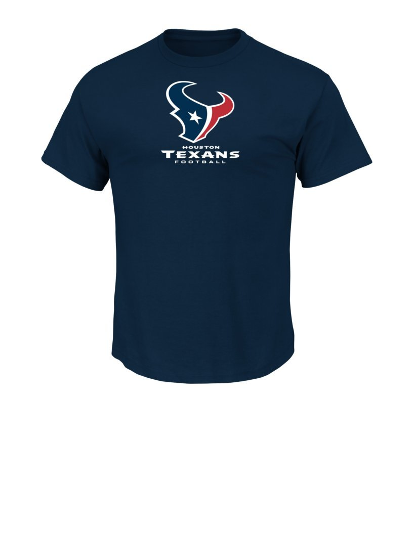 NFL Houston Texans Men's UP4 Tee, Navy, Large