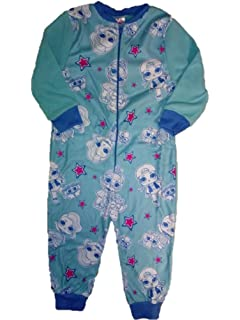 Disney Princess Tatty Teddy Fleece All in One 3-4 5-6  pyjamas pjs zip