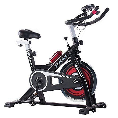 Tauki Indoor Health and Fitness Exercise Bike with LCD Monitor
