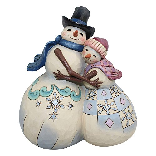 Enesco Jim Shore Snowman Couple Hugging