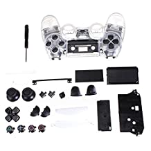 Clear Shell - SODIAL(R)Clear Shell Full Housing case Controller Replacement cover for PS4 Playstation 4
