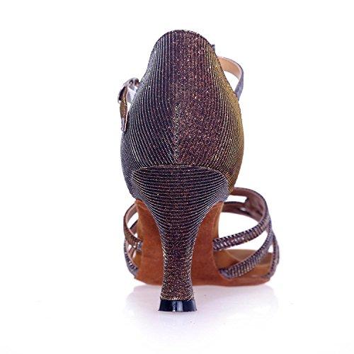 besonders Braun Blau angefertigt Kann Frauen L Schwarzem Gold Ballsaal Satin Tanzschuhe YC werden Latein Silber Rot Mit 6x7TqPCw
