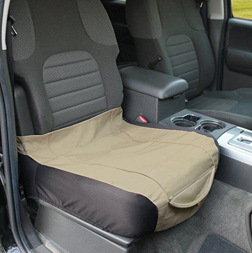 Image of Kurgo Waterproof Shorty Car Bucket Seat Cover for Dogs, Hampton Sand Khaki