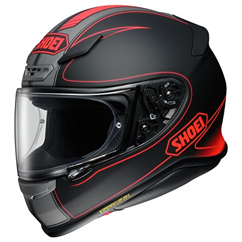 Lightest Full Face Helmet - Shoei R120FLGR 1 5 SNL unisex-adult full-face-helmet-style RF-1200 Flagger Tc-1 Helmet (Matte Black/Red, X-Large), 1 Pack