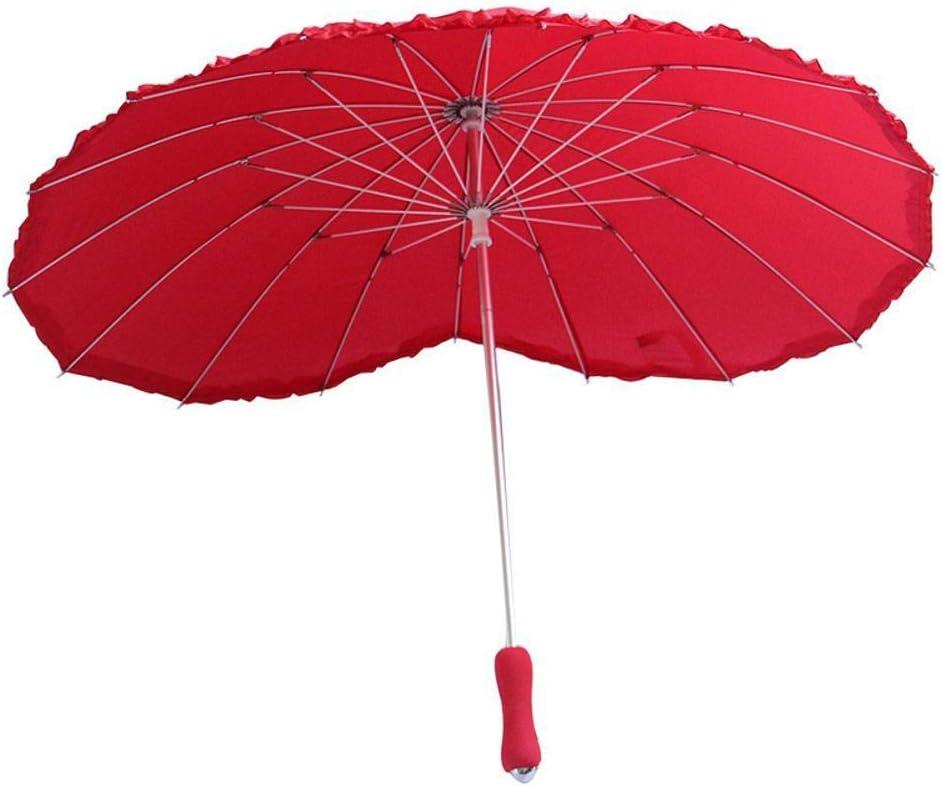TtKj Folding Umbrella Creative Love Peach Heart Long Handle Fashion Bride Super Big Wedding Clear Umbrella 9090cm