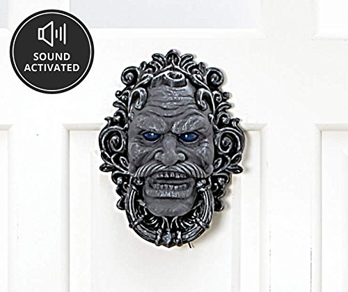Halloween Haunted Door Knocker - Stone Face]()