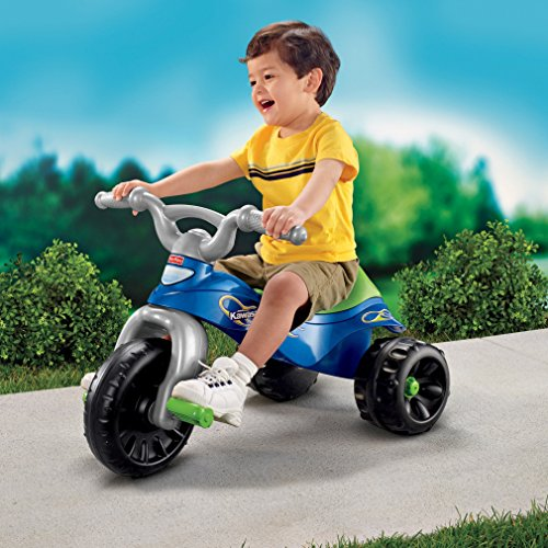 51E22KKIDEL - Fisher-Price Kawasaki Tough Trike, Blue/Green
