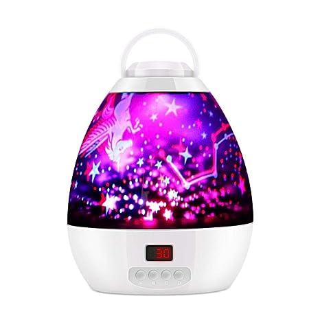 Lámpara de proyector de estrellas, luces de noche de colores ...