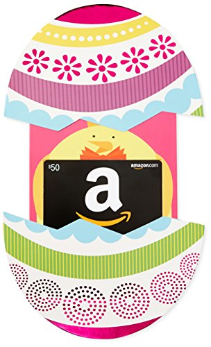 Amazon.com $50 Gift Card in a Easter Egg Reveal (Classic Black Card Design)