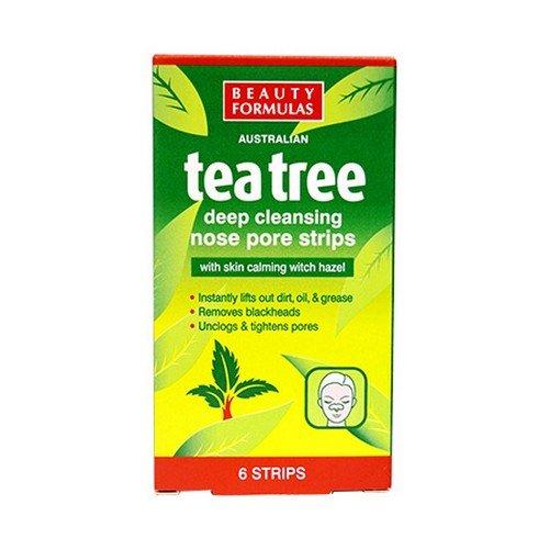 Beauty Formulas Australian tea tree deep cleansing nose pore strips - 6 strips by Beauty Formulas