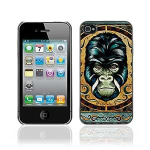 CaseCaptain Carcasa Funda Case - Apple iPhone 4 / 4S / Detailed Gorilla Illustration /