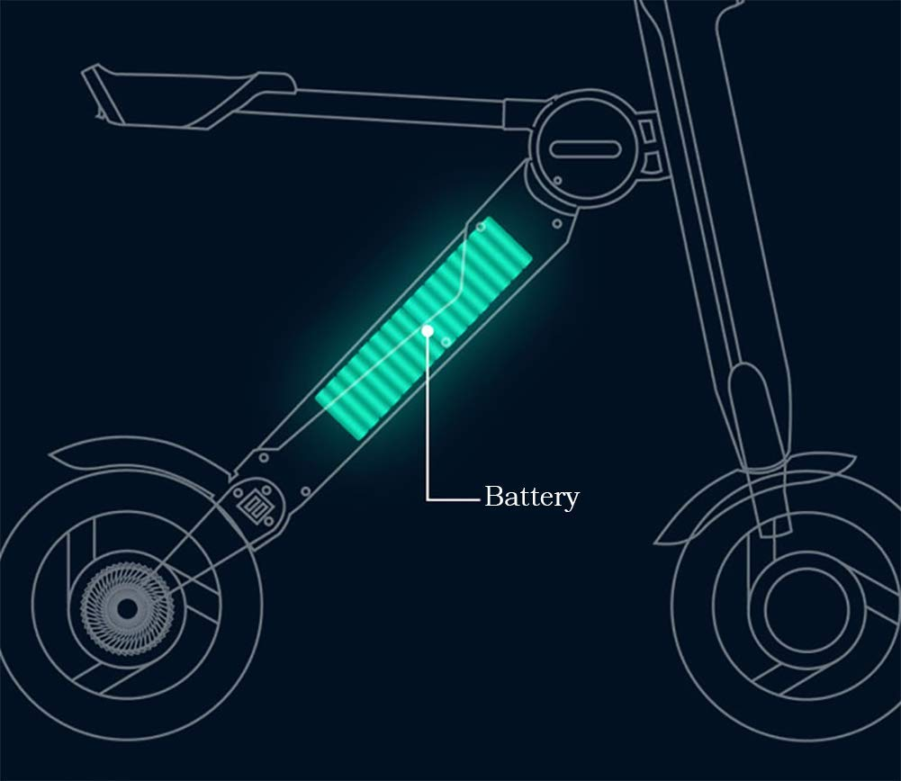 Amazon.com: TX Triangle Scooter eléctrico súper ligero ...