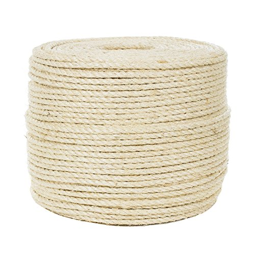 Twisted Sisal Rope in 3/8 Inch - 10 Feet - Strong, Vintage, Universal