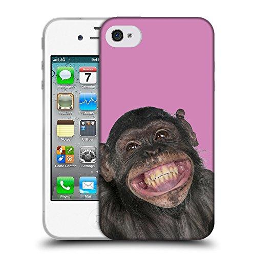 GoGoMobile Coque de Protection TPU Silicone Case pour // Q05620618 grand sourire Bronzo // Apple iPhone 4 4S 4G