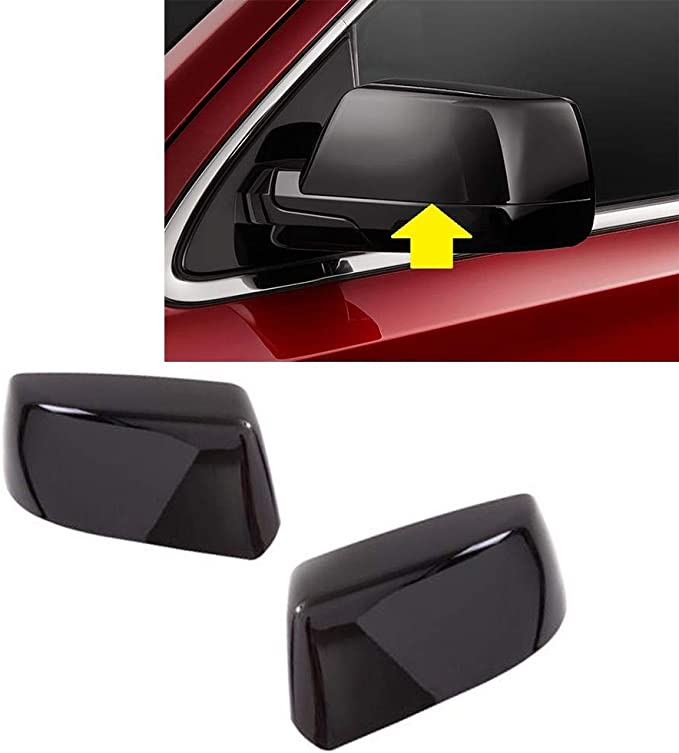 TPHJRM Car Rearview Mirror Cover 1 Pair of ABS Silver car Exterior Accessories,for Chevrolet Tahoe Suburban 2020 2021