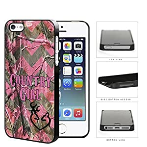 Camo Tree Pink Chevron Country Girl Buck Heart iPhone 5 5s Hard Snap on Plastic Cell Phone Cover